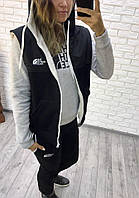 Теплый женский спортивный костюм батал тройка опк5056