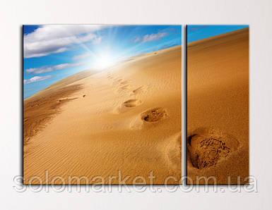 """Модульная картина """"Горячее солнце пустыни"""""""
