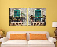 """Модульна картина """"Віконця в старій Європі"""", фото 1"""