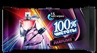 Влажные салфетки с ароматом элитных парфюмов, 15 шт. 100% чистоты 0805