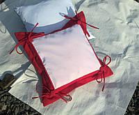 Подушка с накладкой для сублимации, цвет красный