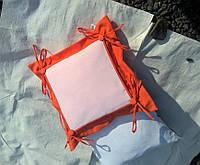 Подушка с накладкой для сублимации, цвет оранжевый