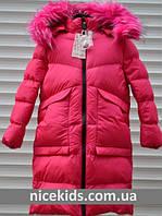 Детское зимнее пальто для девочки 134-164р