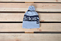 Теплая шапка Adidas / шапка найк / шапка унисекс