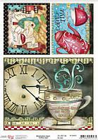 Карта декупажная Coffee time 21*29,7см 55г/м2 ROSA START 696002