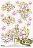 Карта декупажная Цветение вишни 21*29,7см 40г/м2 Vintage Design S122