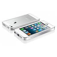 Бампер (ОРИГИНАЛ) SGP Neo Hybrid EX Snow Series Iphone 5/5S/SE (Silver)