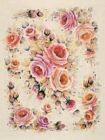 Карта декупажная Романтичні троянди від Рос Сінглтон 50*70см 100г/м2 Finmark  RS646