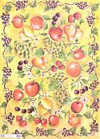 Карта декупажная Літні фрукти від Мігнон Кліфт 50*70см 100г/м2 Finmark  MC942