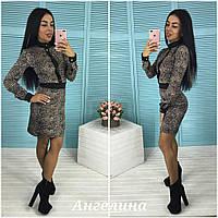Платье леопардовое, офисный стиль