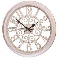 Настенные ажурные часы (36см), цвет кремовый