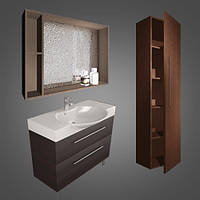 Fancy Marble Комплект мебели для ванной комнаты из 3 предметов, Sumatra 2, Венге