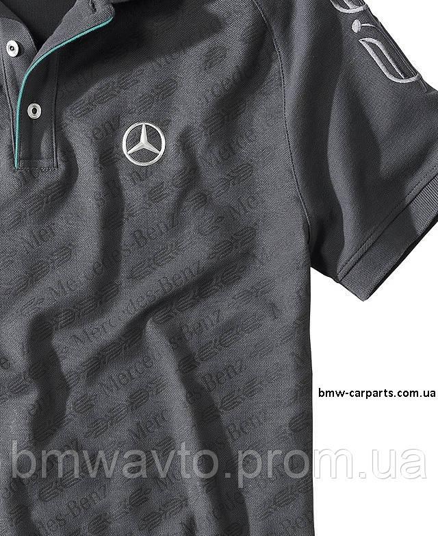 Футболка-поло Mercedes Poloshirt Herren Graphit, фото 2