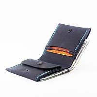 Кошелек портмоне мужской Wallet 3 Blue с монетницей