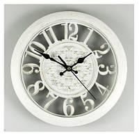 Настенные ажурные часы (28см), цвет белый
