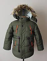 Зимняя куртка на мальчика подростка 4-8 лет
