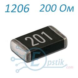 Резистор 200 Ом ( 201 ), 1206, ± 5%  SMD