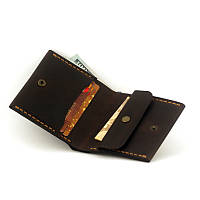 Кошелек портмоне мужской Wallet 3 Brown с монетницей