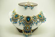 """Мода 2014 бижутерия """"Shourouk"""" оптом. Комплекты бижутерии серьги и колье с крупными камнями"""