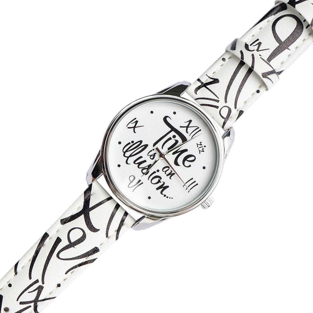 Часы  с дизайнерским принтом Иллюзия времени