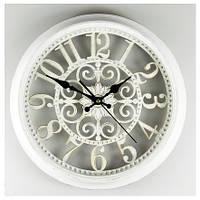 Настенные ажурные часы (36см), цвет белый