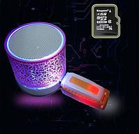 Беспроводная блютуз колонка AMY146.  Bluetooth колонка переносная. Подсветка.