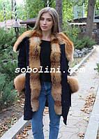 Модная парка  с мехом  лисы украинского производства
