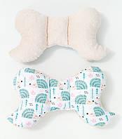 Подушка – позиционер детская BabySoon Мятные ежики 32 х 24 см цвет молочный (328)