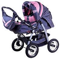 Коляска-трансформер Trans Baby Taurus графит-св.розовый