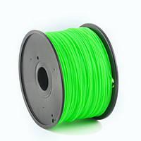 Пластиковый материал филамент gembird 3dp-abs1.75-01-lg для 3d-принтера abs 1.75 мм Светящийся зелёный