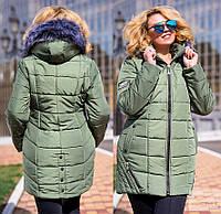 Зимняя куртка женская большого размера недорого в интернет-магазине Украина Россия ( р. 52-56 )