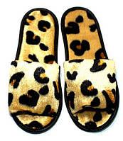 Тапки гостевые велюровые Тигр (открытый мыс) для дома, офиса, гостиниц и SPA.