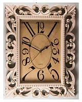 Настенные ажурные часы (46х61см) цвет ремовый, прямоугольной формы