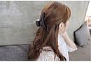 Пластиковый краб для волос 9,5 см коричневый, фото 4