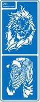 Трафарет многоразовый клеевой 8,5*23,5см Животные 211