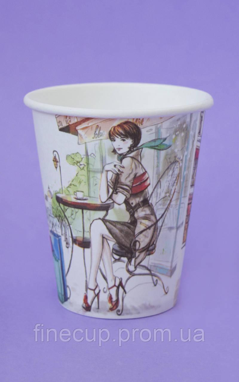 """Паперові стаканчики/бумажные стаканы """"дівчина"""" 175 мл"""