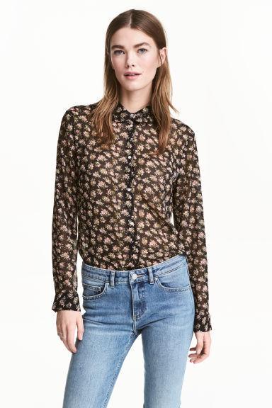 Шифоновая блузка в цветочный принт H&M