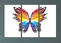 """Модульная картина """"Яркая абстрактная бабочка"""", фото 1"""