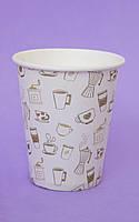 """Паперові стаканчики/бумажные стаканы """"кава"""" 175 мл"""
