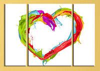 """Модульна картина """"Серце"""", фото 1"""