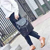 Рюкзак городской черный классический Mia Mia