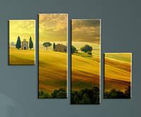 """Модульна картина """"Теплий день в селі"""", фото 1"""