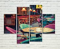 """Модульная картина """"Уютная кофейня"""", фото 1"""