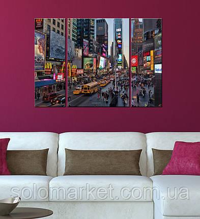 """Модульна картина """"Times Square"""", фото 2"""