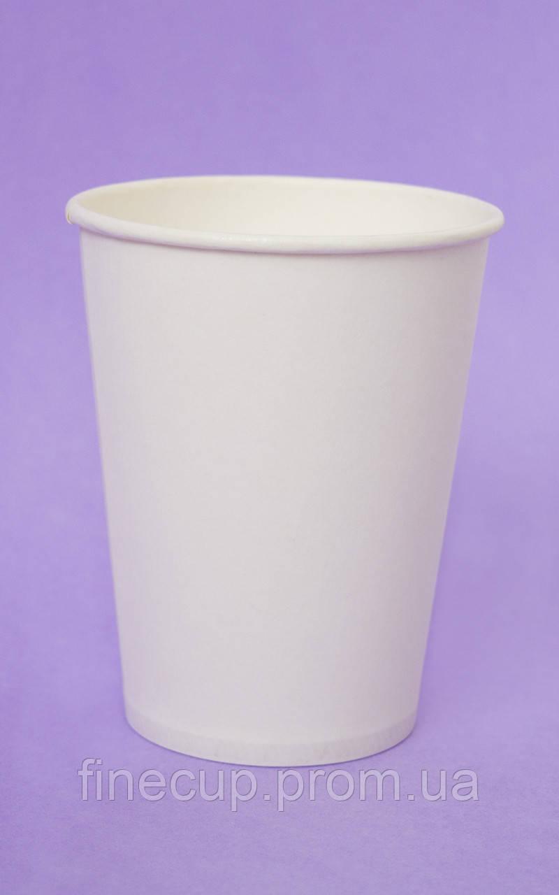 Паперовий стаканчик білий/бумажный стаканчик белый 250 мл
