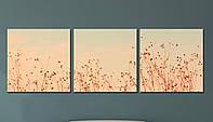 """Модульна картина """"Польові квіти """", фото 1"""