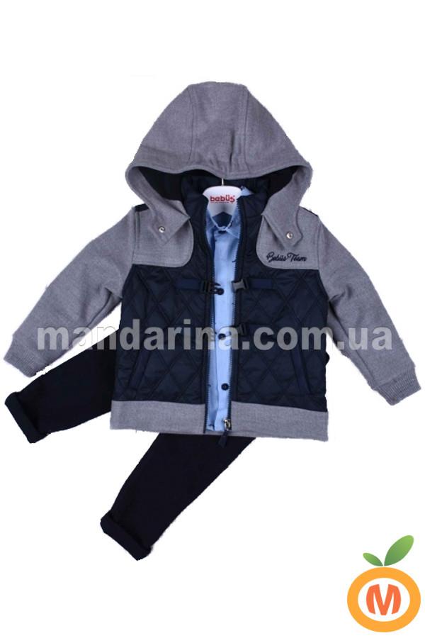 Костюм для мальчика 3 в 1: куртка, рубашка и джинсы - Mandarina.com.ua магазин детской одежды в Запорожье