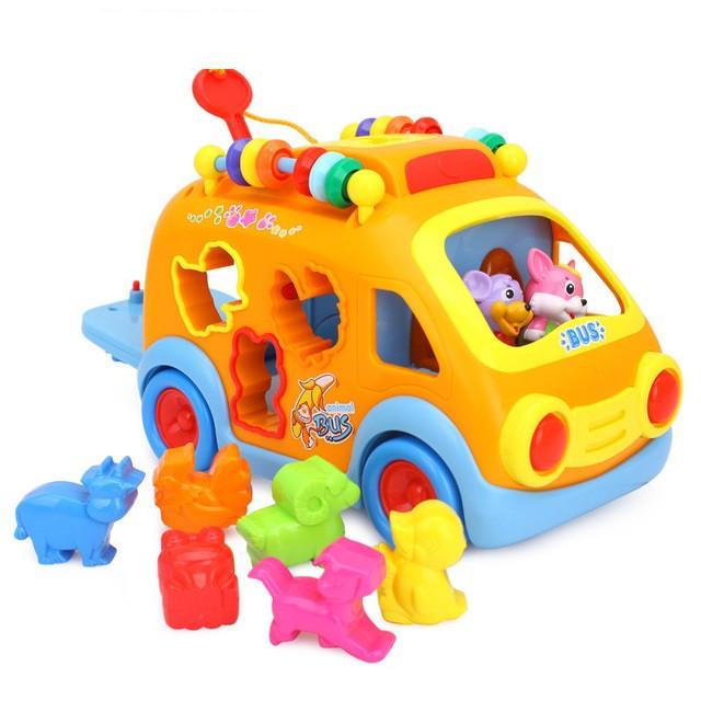 Игрушка-сортер Веселый автобус Hola Toys (988)