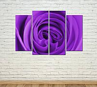 "Модульная картина ""Пурпурная роза"", фото 1"