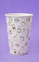 """Паперові стаканчики/бумажные стаканы """"кава"""" 340 мл"""
